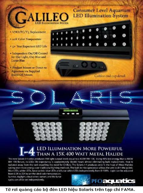 Đèn LED: Ứng dụng chiếu sáng hồ cảnh LED solaris